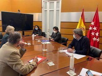 El consejero de Vivienda y Administración Local se ha reunido con la presidenta del Colegio de Administradores de Fincas (CAFMadrid)