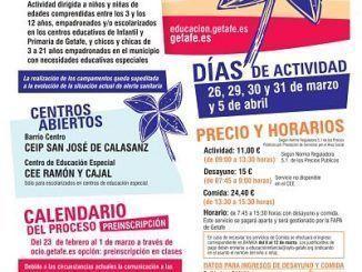 Centros Abiertos de Semana Santa en Getafe