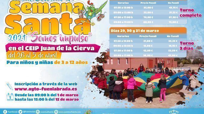 El Ayuntamiento organiza una 'Fuenlicolonia' de Semana Santa dirigida a familias con dificultades para conciliar o en situación de vulnerabilidad
