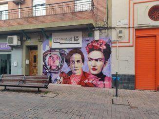Más Madrid-Leganemos mural feminista Ciudad Lineal