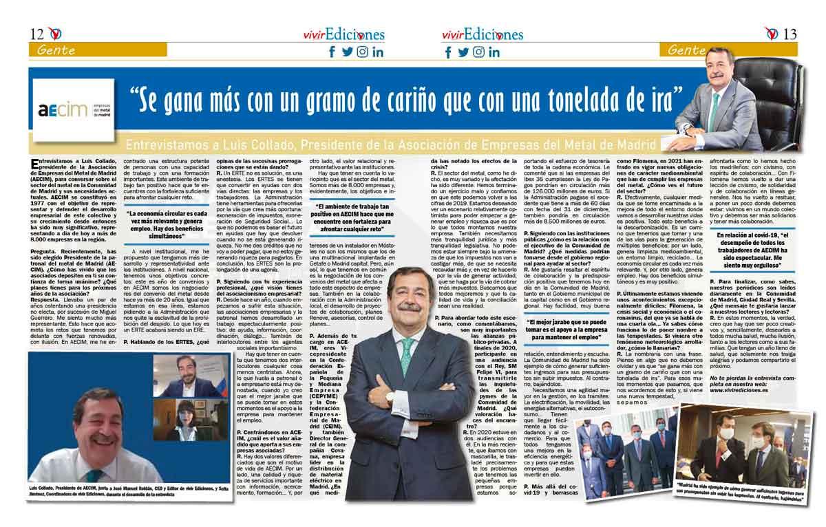 Entrevista Luis Collado presidente de AECIM
