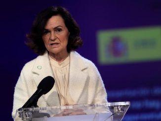 """La vicepresidenta del Gobierno, Carmen Calvo, interviene en la presentación del informe """"Madre no hay más que una: monoparentalidad, género y pobreza infantil"""""""