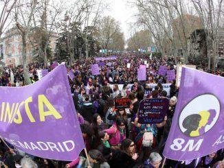 Manifestación por el Día de la Mujer del 2020 en Madrid.