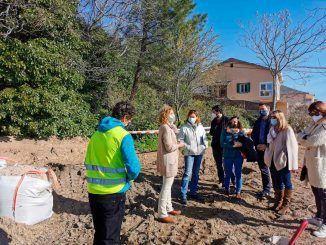 La Comunidad de Madrid está restaurando el jardín del albergue juvenil de El Escorial, en San Lorenzo de El Escorial.