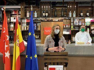 Paloma Martín en la presentación de la patente del garbanzo madrileño
