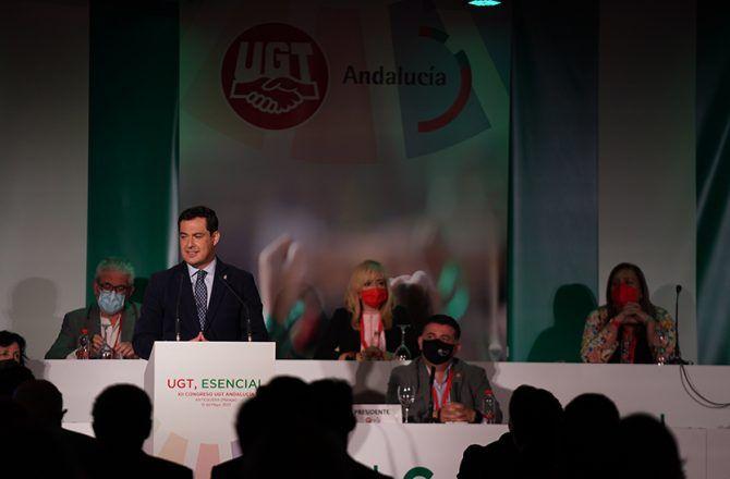 Durante el XII Congreso de UGT Andalucía, celebrado en Antequera, ha incidido en que Andalucía está preparada para poner un millón de vacunas a la semana que permitirá volver antes a la normalidad