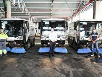 ESMASA adquiere 3 nuevas barredoras y 1 camión cisterna para mejorar el servicio de limpieza viaria