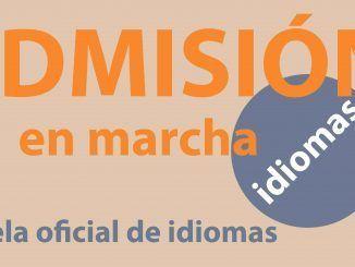 Cartel informativo de la Escuela Oficial de Idiomas
