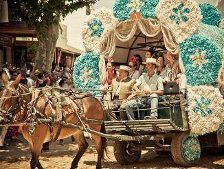 Un pequeño pueblo de 700 habitantes cobra vida con un millón de peregrinos flamboyantes y su frenética celebración de la Virgen del Rocío