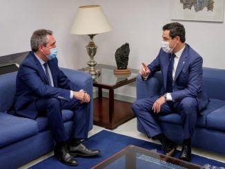 """Moreno y Espadas abren una """"nueva etapa"""" de diálogo PP-PSOE en Andalucía"""