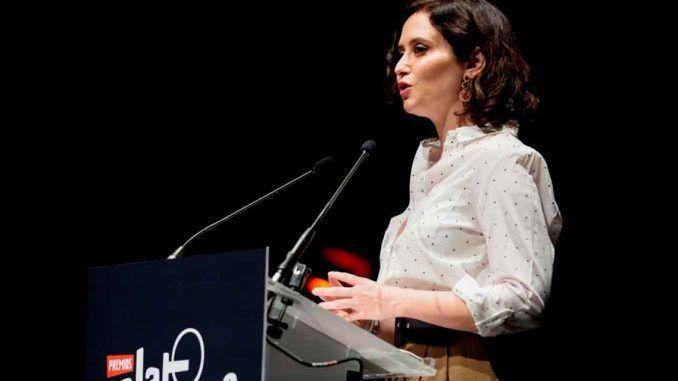 Díaz Ayuso recibe el reconocimiento de los Premios Platino por el apoyo de la Comunidad de Madrid al cine y la cultura iberoamericana