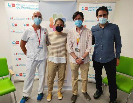 Varios ponentes del webinar del Hospital de Fuenlabrada