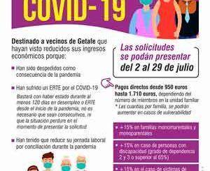 Getafe abre mañana el plazo para solicitar las ayudas de 1.500.000 euros para vecinos que hayan reducido sus ingresos por la Covid-19
