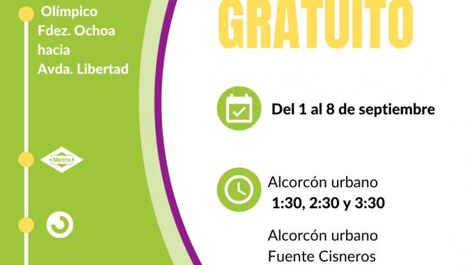 servicio gratuito de autobuses fiestas alcorcón 2021